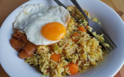 Studentenmaaltijd – Nasi met vezelrijke toverrijst