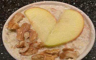 Overnight oats appeltaart
