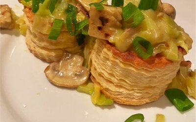 Vegetarische champignon pasteitjes